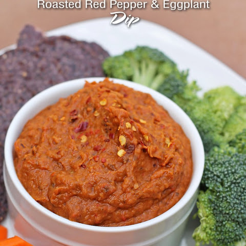 Roasted Eggplant & Red Pepper Dip {Recipe}