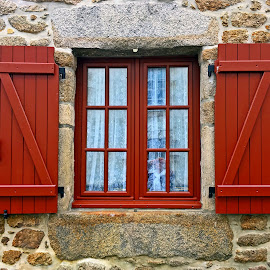 Window by Dobrin Anca - Buildings & Architecture Architectural Detail ( sky, window, street, brittany, city )