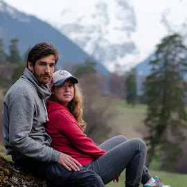 Welcome to Caucasus! by Alexander Bakhur - People Couples ( mountains, mountain, nature, trekking, couple, people, caucasus, hike, hiking, caucasian )