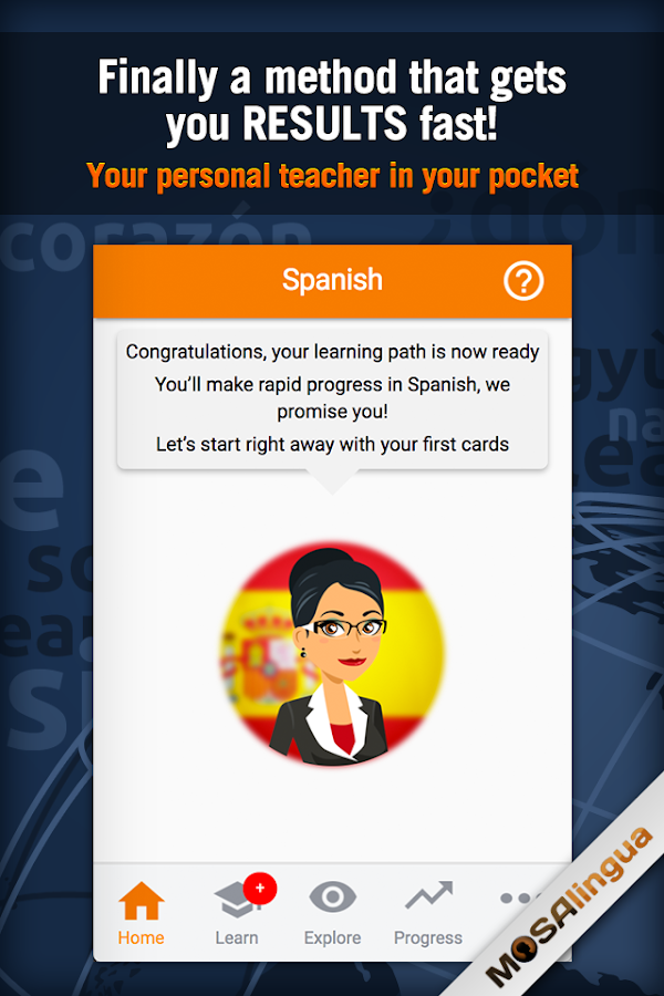 MosaLingua Business Spanish Screenshot