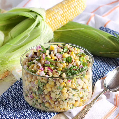 Black-Eyed Pea and Corn Salad with Spinach