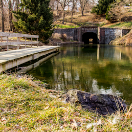 Canal Tunnel by Jerry Keefer - City,  Street & Park  City Parks ( lebanon, union canal park, tunnel )