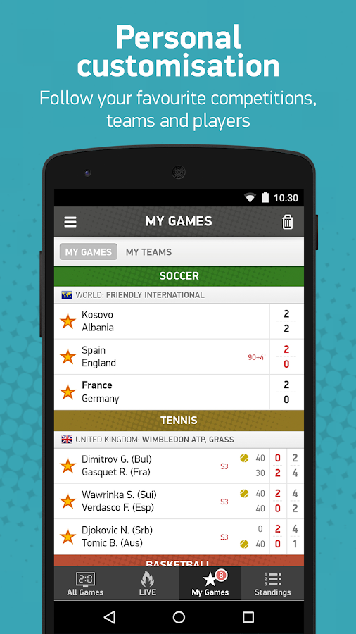 FlashScore Screenshot 3