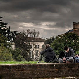 Lucca's City Wall by Andrea Pillonca - People Street & Candids