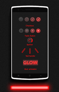 Glow Red CM13 CM12/12.1 Theme- screenshot thumbnail