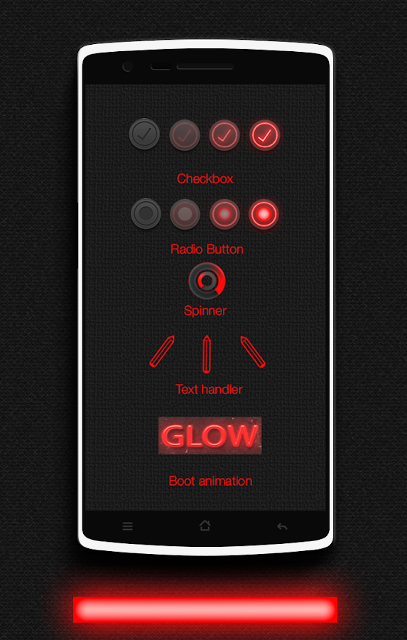 Glow Red CM13 CM12/12.1 Theme Screenshot 7