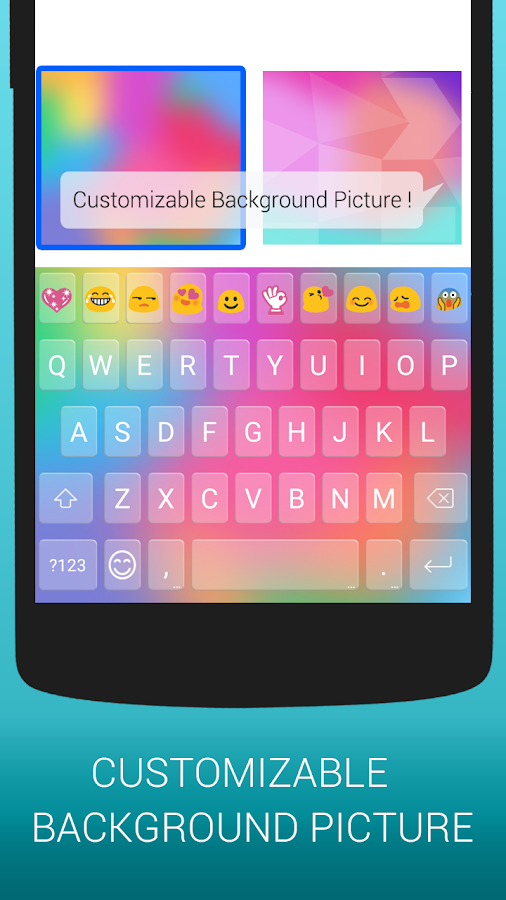 Emoji Keyboard Cute Emoticons Screenshot 2