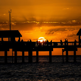 Clearwater and Pier 60 by Wendy  Walters - Buildings & Architecture Bridges & Suspended Structures ( florida sunset, pier 60, clearwater sunset, florida, sunset, clearwater )
