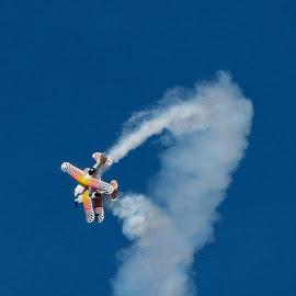 Looks Can Be Deceiving... by Wendy Meehan - Transportation Airplanes ( contrails, airplanes, biplanes, stunt )