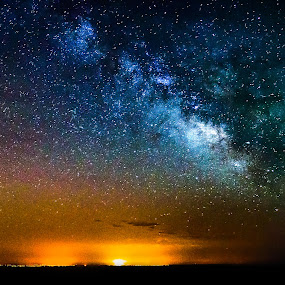 Milky Way with noise ! :) by Emanuel Fernandes - Landscapes Starscapes ( magic, stars, night, portugal, milky )