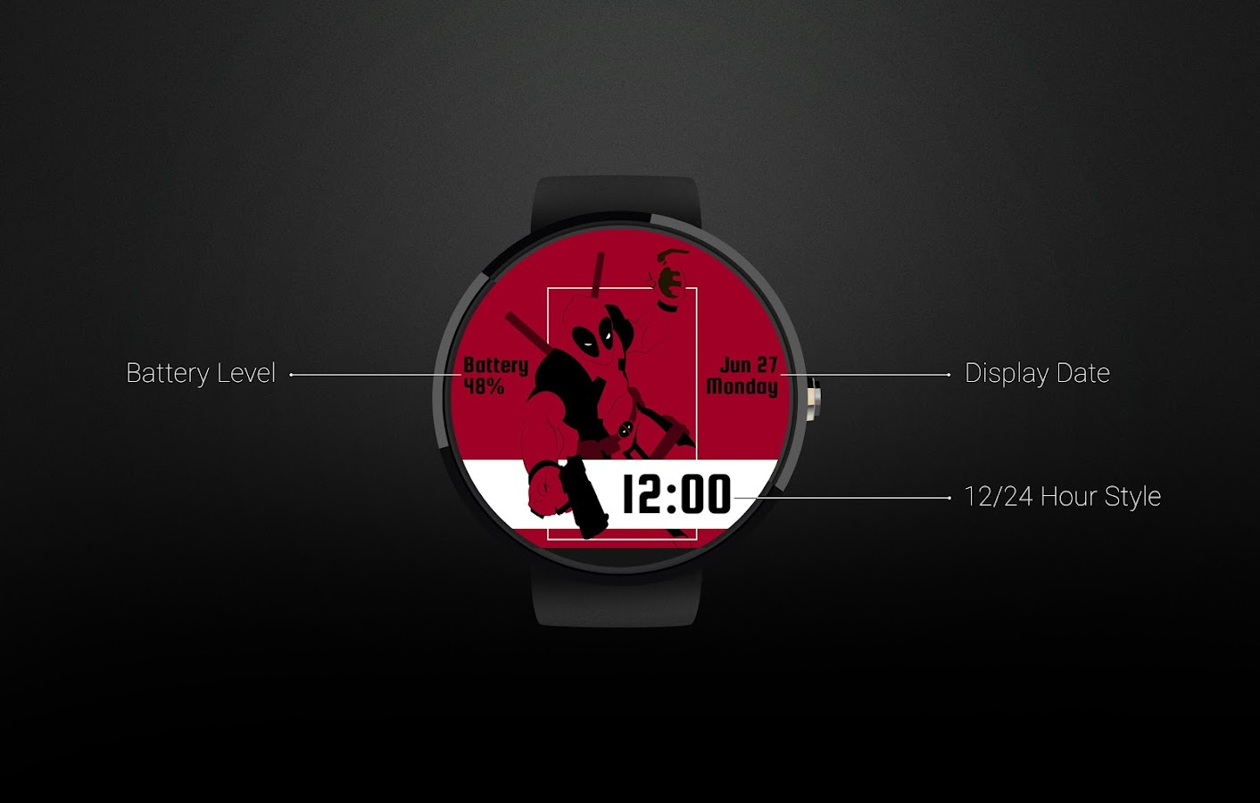 Deadpool Watch Face Screenshot 5