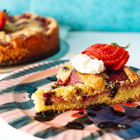 Strawberry Cornmeal Cake