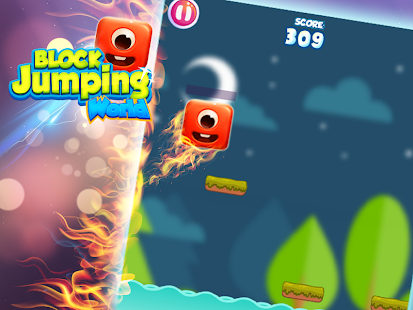 Block jumping world - screenshot