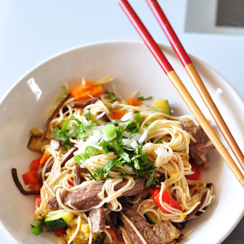 how to make stir fry rice noodles with vegetables