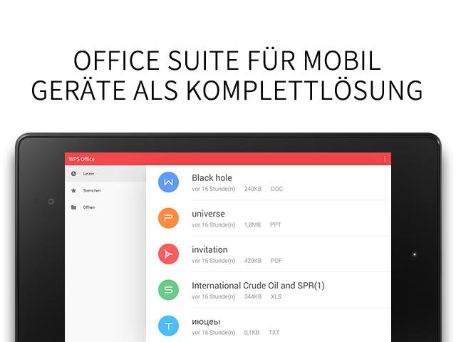 WPS Office + PDF – Screenshot
