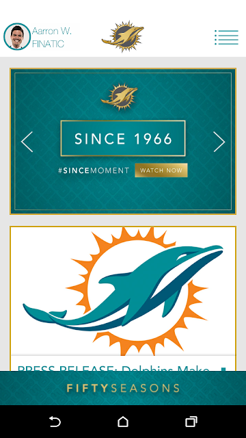 Official Miami Dolphins screenshots