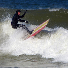 Winter Surfing by Marcia Geier - Sports & Fitness Surfing ( surfing, wellfleet,  )