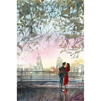 Greenwich London art print british english epainting