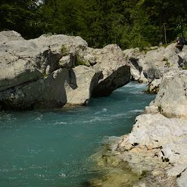 Smaragdna Soča by Bojan Kolman - Nature Up Close Rock & Stone (  )