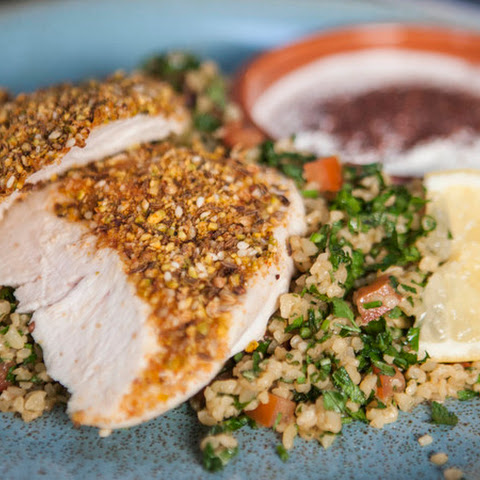 Crusted Chicken And Tabbouleh