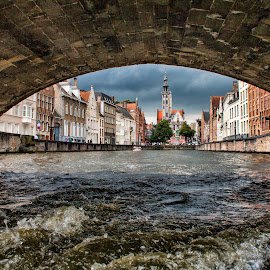 Bruges ( Belgium) by Gianluca Presto - Buildings & Architecture Architectural Detail ( water, under, bruges, architectural detail, historic district, belgium, architecture, bridge, canal, city, river )