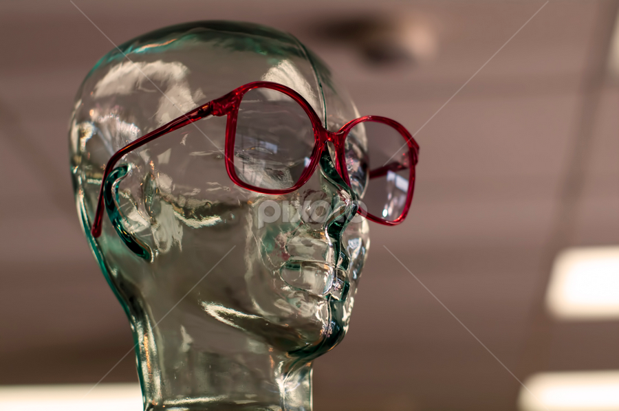 Empty Head by Frank Matlock II - Artistic Objects Other Objects ( clear, glasses, empty, transparent, head )