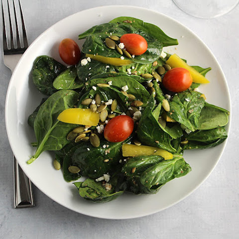 Spinach Salad with Simple Vinaigrette