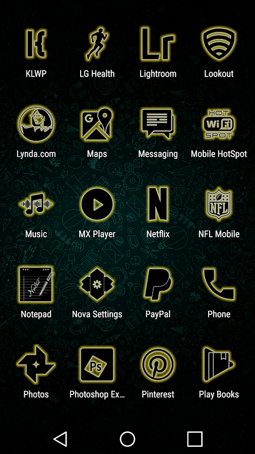 Glowist Yellowish - Icon Pack Screenshot 4