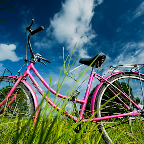 pink by Darryl Espiritu - Transportation Bicycles