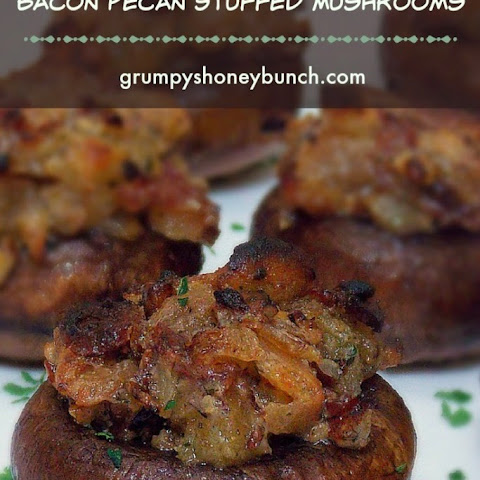 Bacon Pecan Stuffed Mushrooms