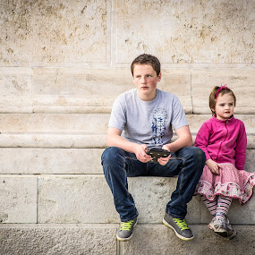 Brother & Sister by Péter Nagy - Babies & Children Child Portraits ( children, portrait )