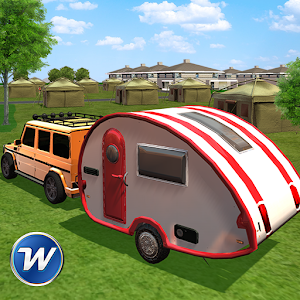 Camper Van Trailer Truck Driving Simulator Icon
