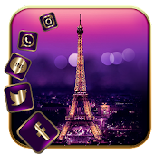 APK App Gold Paris Eiffel Tower Love for BB, BlackBerry