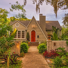 House at 2048 by Bill Camarota - Buildings & Architecture Homes ( home, old, brick, neighborhood, landscaping, house, quaint )
