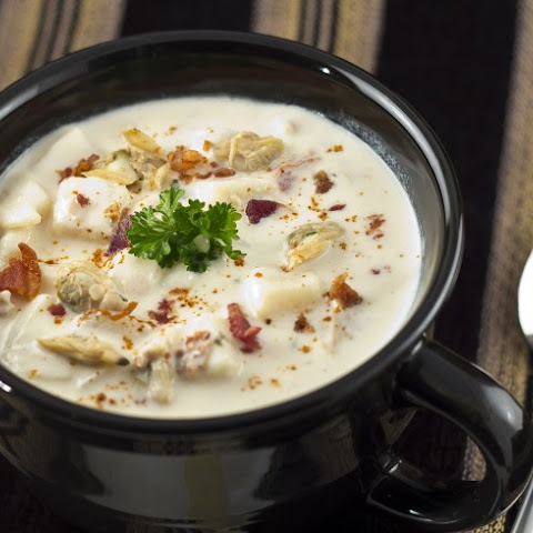 Slow Cooker Cream Of Mushroom Clam Chowder