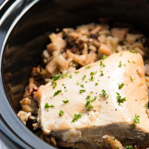 Slow Cooker Turkey and Cranberry-Apple Wild Rice Dinner
