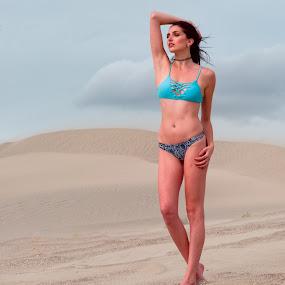 Zhenya and Sand Dunes 1 by Rakesh Malik - People Fashion ( model )