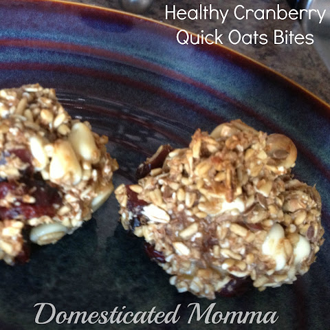 Healthy Cranberry Quick Oats Bites