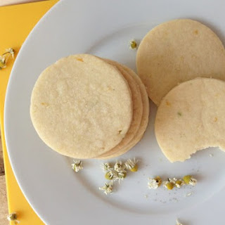 Lemon and Chamomile Shortbread Cookies