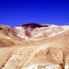 Israel wadi by Mike DeLong - Landscapes Deserts ( hills, sand, desert, blue sky, israel )