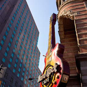 Center City Philadelphia by Robert Harmon - Buildings & Architecture Public & Historical ( canon, building, street, guitar, architecture, restaurant, city )