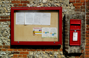 Notice board and post box