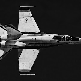 NASA McDonald Douglas F-18 by Tom Anderson - Transportation Airplanes ( nasa mcdonald douglas f-18 )