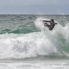 Surfing by Denis Sinoussi - Sports & Fitness Surfing ( skyline, surfing, waves, board, surf,  )