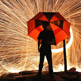 by Bryan  Chuah - Abstract Fire & Fireworks