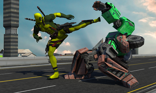 Rope Man VS Superhero Robot for pc