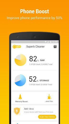 SuperB Cleaner - Boost, Clean & APP LOCK screenshot 1