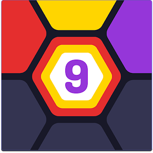 UP 9 - Hexa Puzzle! Merge Numbers to get 9 For PC (Windows & MAC)