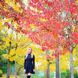 Fall Colors by Marina Bandol - People Portraits of Women