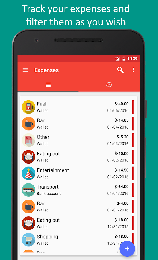 Fast Budget - Expense Manager Screenshot 1